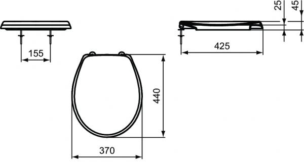 Capac WC Ideal Standard Eurovit 1
