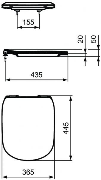 Capac WC Ideal Standard Tesi - Slim - Softclose 2