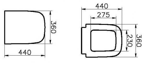 Capac WC Vitra S20 - Softclose 1
