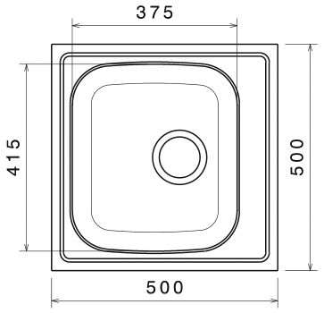Chiuveta Bucatarie Inox Anticalcar 500 x 500 1