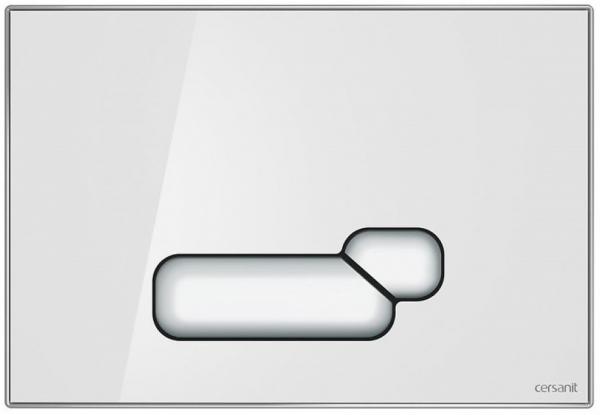 Clapeta actionare Cersanit Aqua (seria 0, 2 si 4) si System (seria 0 si 2) - Actis sticla alba 0