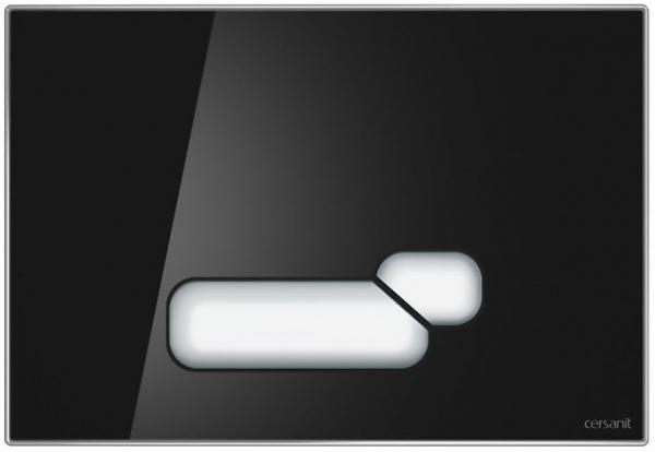 Clapeta actionare Cersanit Aqua (seria 0, 2 si 4) si System (seria 0 si 2) - Actis sticla neagra 0