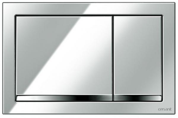 Clapeta actionare Cersanit Aqua (seria 0, 2 si 4) si System (seria 0 si 2) - Enter crom lucios 0