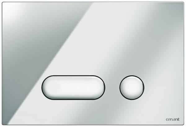 Clapeta actionare Cersanit Aqua (seria 0, 2 si 4) si System (seria 0 si 2) - Intera crom lucios 0