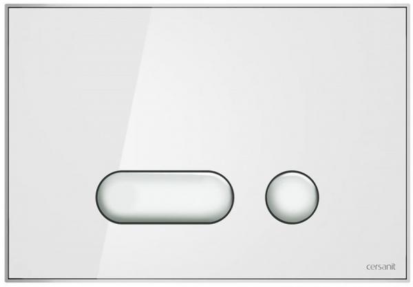 Clapeta actionare Cersanit Aqua (seria 0, 2 si 4) si System (seria 0 si 2) - Intera sticla alba 0