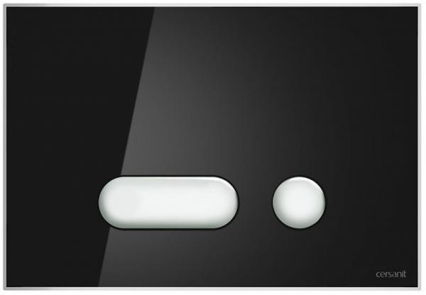 Clapeta actionare Cersanit Aqua (seria 0, 2 si 4) si System (seria 0 si 2) - Intera sticla neagra [0]