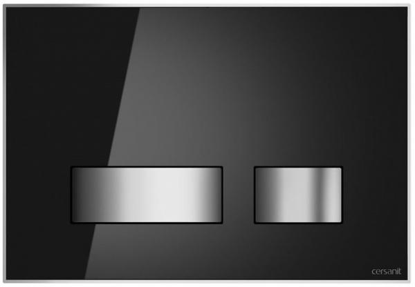 Clapeta actionare Cersanit Aqua (seria 0, 2 si 4) si System (seria 0 si 2) - Movi sticla neagra 0