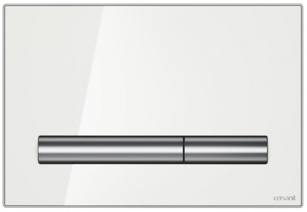 Clapeta actionare Cersanit Aqua (seria 0, 2 si 4) si System (seria 0 si 2) - Pilot sticla alba [0]