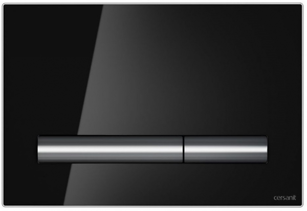 Clapeta actionare Cersanit Aqua (seria 0, 2 si 4) si System (seria 0 si 2) - Pilot sticla neagra 0