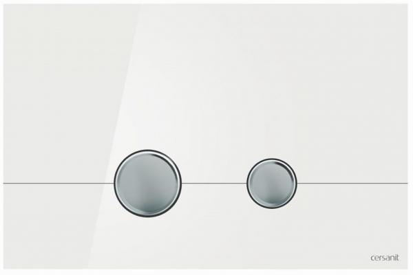 Clapeta actionare Cersanit Aqua (seria 0, 2 si 4) si System (seria 0 si 2) - Stero sticla alba 0