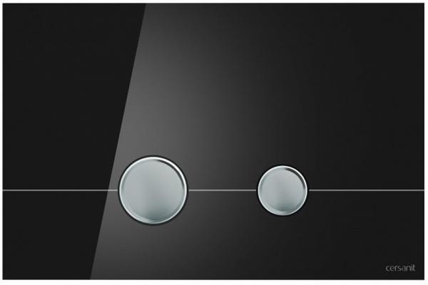 Clapeta actionare Cersanit Aqua (seria 0, 2 si 4) si System (seria 0 si 2) - Stero sticla neagra 0
