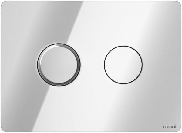 Clapeta actionare Cersanit Aqua (seria 5, 7 si 9) - Circular Accento crom lucios 0