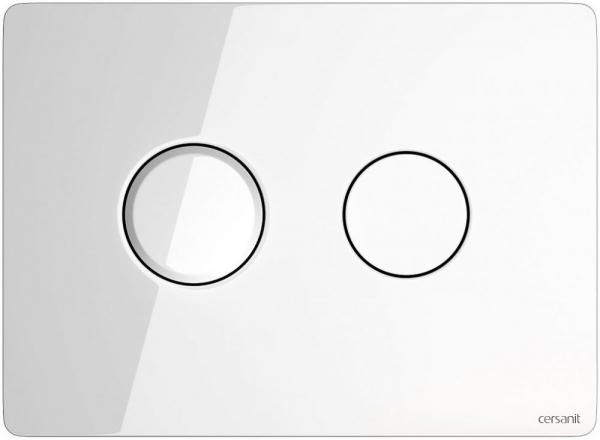 Clapeta actionare Cersanit Aqua (seria 5, 7 si 9) - Circular Accento sticla alba 0