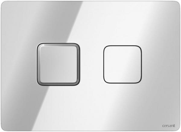 Clapeta actionare Cersanit Aqua (seria 5, 7 si 9) - Square Accento crom lucios 0