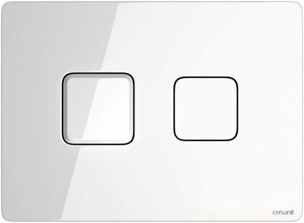 Clapeta actionare Cersanit Aqua (seria 5, 7 si 9) - Square Accento sticla alba [0]