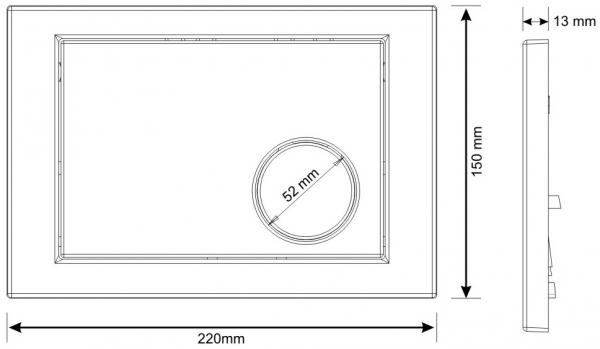 Clapeta actionare rezervor Cersanit Link - Model 2 Crom lucios 1