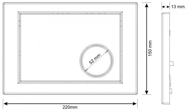 Clapeta actionare rezervor Cersanit Link - Model 2 Crom mat [1]