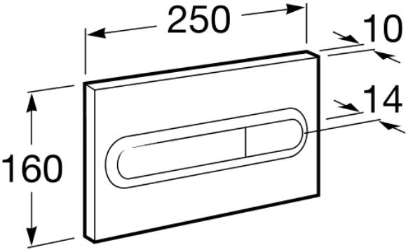 Clapeta actionare rezervor Roca - PL1 Dual 1