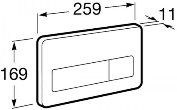 Clapeta actionare rezervor Roca - PL3 Antivandal Dual Otel polish 1