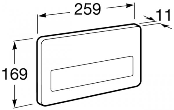 Clapeta actionare rezervor Roca - PL3 Antivandal Single Otel polish 1
