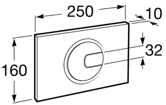 Clapeta actionare rezervor Roca - PL4 Dual Crom lucios 1