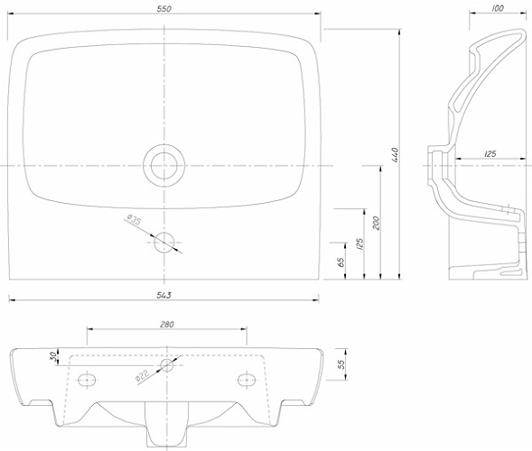 Lavoar Kolo Nova PRO 55 CM [1]