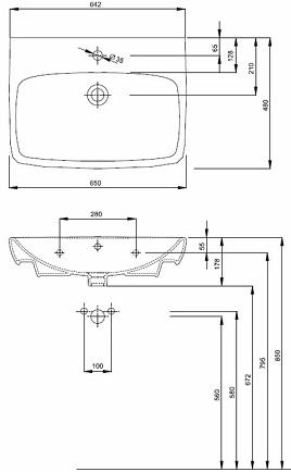Lavoar Kolo Nova PRO 65 CM 1