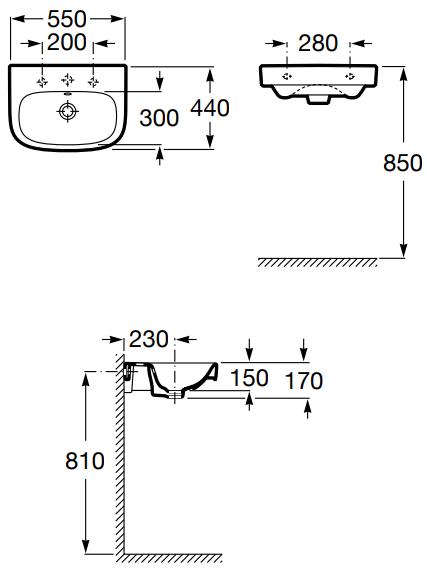 Lavoar Roca Debba 55 CM [4]