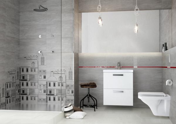 Mobilier Coloana Cersanit City - Stejar Argintiu 1