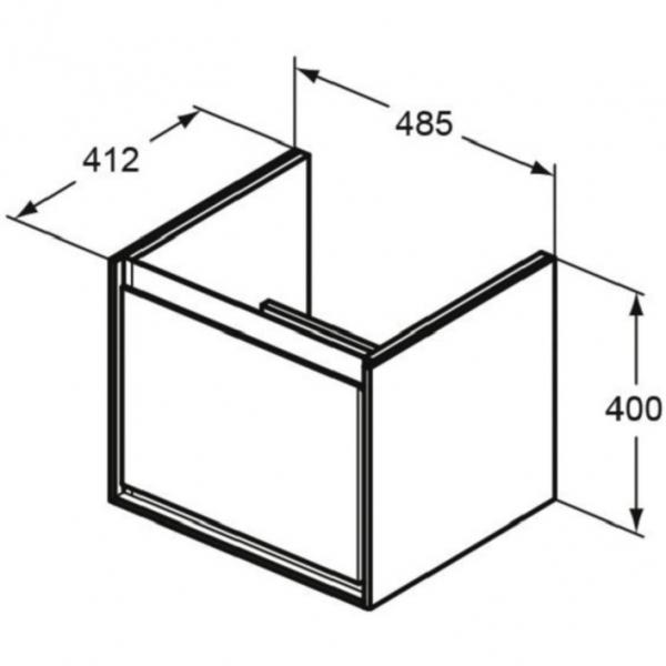 Mobilier Ideal Standard Connect Air pentru lavoar Ideal Standard Connect Air CUBE 55 - Gri lemn [4]