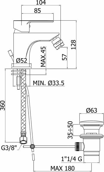 Pachet Complet Bideu Suspendat Ideal Standard Tesi - Gata de Montaj - Cadru fixare + Bideu + Baterie bideu [6]