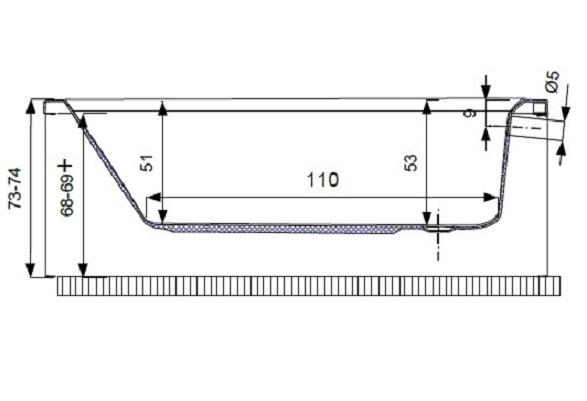 Pachet Complet - Cada Baie Acril Belform Magnus 160x115 + Cadru Metalic + Sifon Evacuare COLT DREAPTA 4