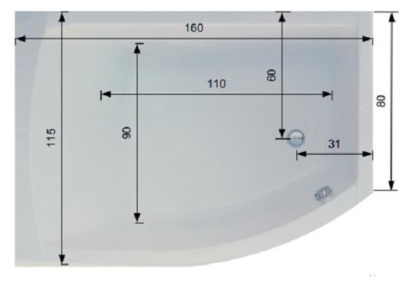 Pachet Complet - Cada Baie Acril Belform Magnus 160x115 + Cadru Metalic + Sifon Evacuare COLT DREAPTA 5