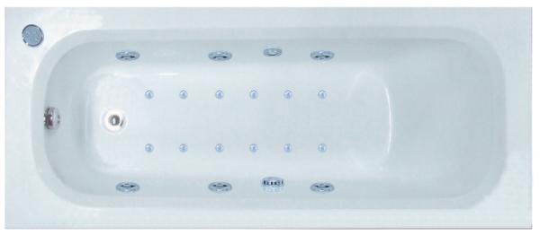 Pachet Complet - Cada Baie Acril Belform Nordica 180x70 cu sistem Hidromasaj si Aeromasaj S3 DuoLight + Cadru Metalic + Masca Frontala + Sifon Automat Evacuare - Iluminare si control digital 0