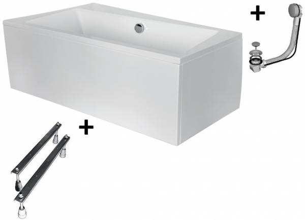 Pachet Complet - Cada Baie Acril Besco Infinity 170x110 COLT STANGA + Cadru Metalic + Masca Frontala + Sifon Evacuare 0