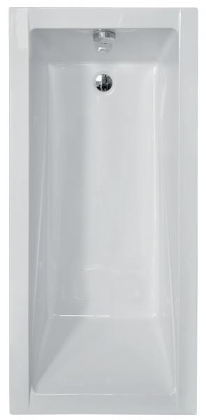 Pachet Complet - Cada Baie Acril Besco Modern 140x70 + Cadru Metalic + Masca Frontala + Masca Laterala + Sifon Evacuare 1
