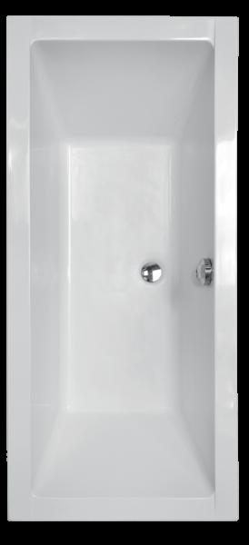 Pachet Complet - Cada Baie Acril Besco Quadro 170x75 + Cadru Metalic + Masca Frontala + Masca Laterala + Sifon Evacuare [1]