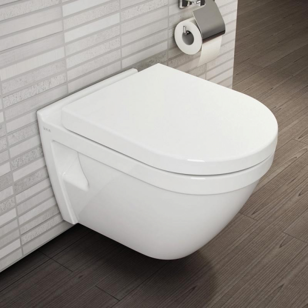 Pachet Complet Sistem WC cu Bideu Suspendat Vitra S50 - Gata de Montaj - Cadru fixare + Rezervor Ingropat, Clapeta Crom, Vas WC cu functie de bideu, Sistem complet baterie incastrata bideu si Capac WC 1