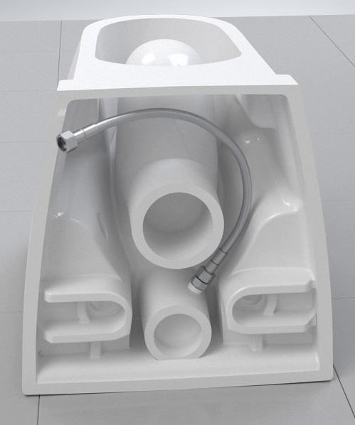 Pachet Complet Sistem WC Grohe cu Bideu Suspendat Vitra S50 RimEX - Gata de Montaj - Cadru fixare + Rezervor Ingropat, Clapeta Crom, Vas WC cu functie de bideu, Sistem complet baterie incastrata bideu [12]