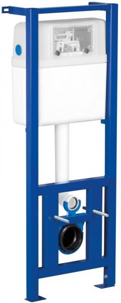 Pachet Complet Sistem WC Suspendat Cersanit Carina CLeanON - Gata de Montaj - Cadru fixare + Rezervor Ingropat, Clapeta Crom, Vas WC si Capac WC SoftClose 4