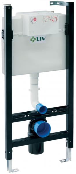 Pachet Complet Sistem WC Suspendat Cersanit Carina CleanON - Gata de Montaj - Cadru fixare + Rezervor Ingropat LIV Jog, Clapeta Alba, Vas WC si Capac WC SoftClose 2