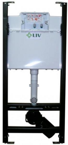 Pachet Complet Sistem WC Suspendat Cersanit Delphi - Gata de Montaj - Cadru fixare + Rezervor Ingropat, Clapeta Alba, Vas WC si Capac WC 2