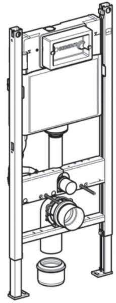 Pachet Complet Sistem WC Suspendat Geberit + Kolo Nova PRO Rimfree - Gata de Montaj - Cadru fixare + Rezervor Ingropat, Clapeta Crom, Vas WC si Capac WC  Softclose 13
