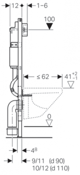 Pachet Complet Sistem WC Suspendat Geberit + Kolo Nova PRO Rimfree - Gata de Montaj - Cadru fixare + Rezervor Ingropat, Clapeta Crom, Vas WC si Capac WC  Softclose 15