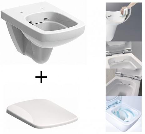 Pachet Complet Sistem WC Suspendat Geberit + Kolo Nova PRO Rimfree - Gata de Montaj - Cadru fixare + Rezervor Ingropat, Clapeta Crom, Vas WC si Capac WC  Softclose 4