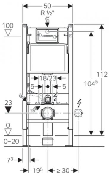Pachet Complet Sistem WC Suspendat Geberit + Kolo Nova PRO Rimfree - Gata de Montaj - Cadru fixare + Rezervor Ingropat, Clapeta Crom, Vas WC si Capac WC  Softclose 14