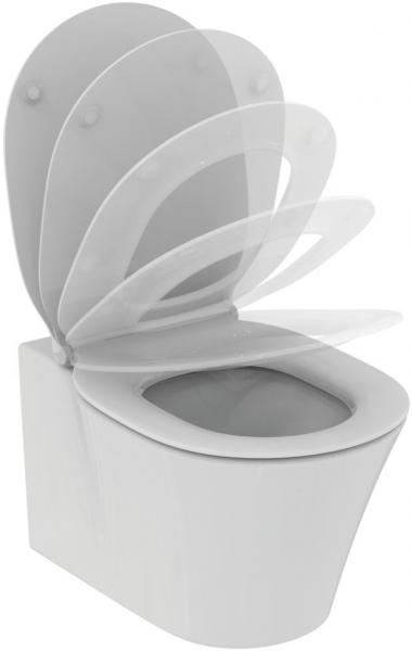 Pachet Complet Sistem WC Suspendat Ideal Standard Connect Air Aquablade - Gata de Montaj - Cadru fixare + Rezervor Ingropat, Clapeta Crom, Vas WC si Capac WC Softclose 2