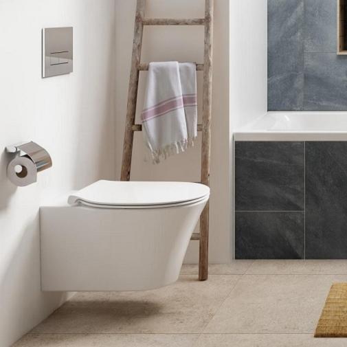 Pachet Complet Sistem WC Suspendat Ideal Standard Connect Air Aquablade - Gata de Montaj - Cadru fixare + Rezervor Ingropat, Clapeta Crom, Vas WC si Capac WC Softclose 7