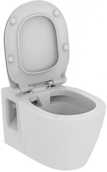 Pachet Complet Sistem WC Suspendat Ideal Standard Connect Rimless - Gata de Montaj - Cadru fixare + Rezervor Ingropat, Clapeta Crom, Vas WC si Capac WC 8