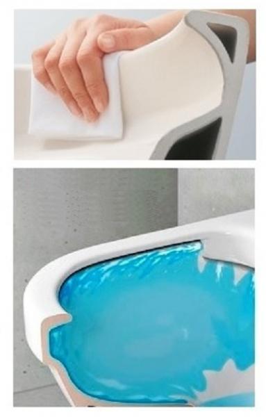 Pachet Complet Sistem WC Suspendat Ideal Standard Tempo Rimless - Gata de Montaj - Cadru fixare + Rezervor Ingropat, Clapeta Crom, Vas WC si Capac WC  5